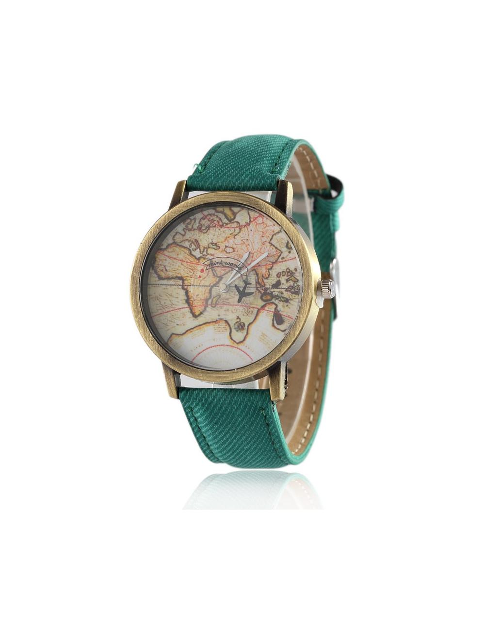 Reloj Mapa Vintage Dayoshop $31.900