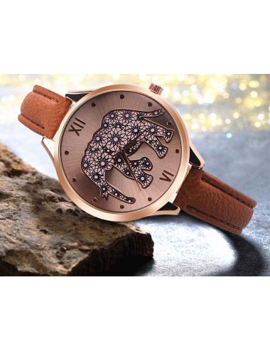 Reloj Elefante Floral